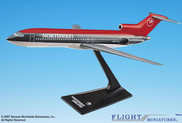 Northwest (90'S) B727-200 (1:200), Flight Miniatures Snap-Fit Airliners, Item Number BO-72720H-006