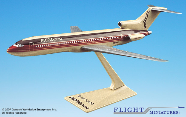 People Express (81-87) 727-200 (1:200), Flight Miniatures Snap-Fit Airliners, Item Number BO-72720H-016