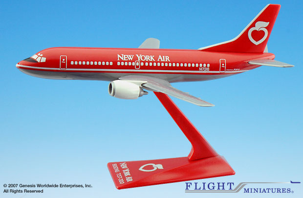 New York Air B737-300 (1:180), Flight Miniatures Snap-Fit Airliners, Item Number BO-73730F-014