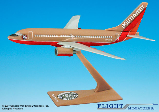 "Southwest 737-700 ""Nolan Ryan"" (1:200), Flight Miniatures Snap-Fit Airliners, Item Number BO-73770H-200"