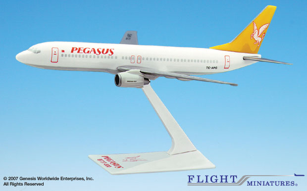 Pegasus 737-800 (1:200), Flight Miniatures Snap-Fit Airliners, Item Number BO-73780H-011