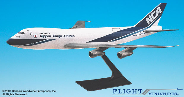 Nippon Cargo Airlines 747-100/200 (1:250), Flight Miniatures Snap-Fit Airliners, Item Number BO-74710I-020