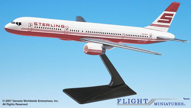 Sterling 757-200 (1:200), Flight Miniatures Snap-Fit Airliners, Item Number BO-75720H-010