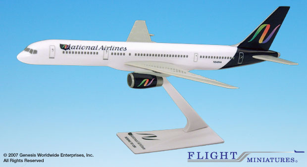 National 757-200 (New Colors) (1:200), Flight Miniatures Snap-Fit Airliners, Item Number BO-75720H-044