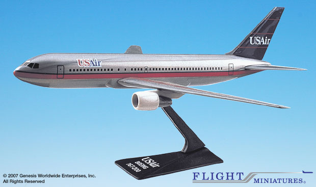 US Air 767-200 (1:200), Flight Miniatures Snap-Fit Airliners, Item Number BO-76720H-003