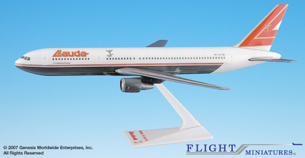 Lauda Air- 767-300 (1:200), Flight Miniatures Snap-Fit Airliners, Item Number BO-76730H-024