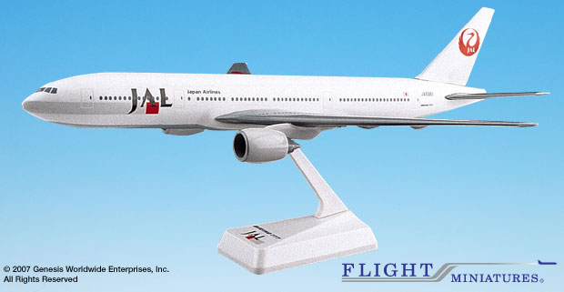 Japan Airlines (90's Scheme) B777-200 (1:200), Flight Miniatures Snap-Fit Airliners, Item Number BO-77720H-005