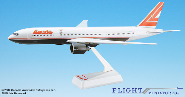 Lauda Air 777-200 (1:200), Flight Miniatures Snap-Fit Airliners, Item Number BO-77720H-012
