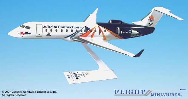 SkyWest Olympic 2002 CRJ200 (1:100), Flight Miniatures Snap-Fit Airliners, Item Number CA-20000C-300