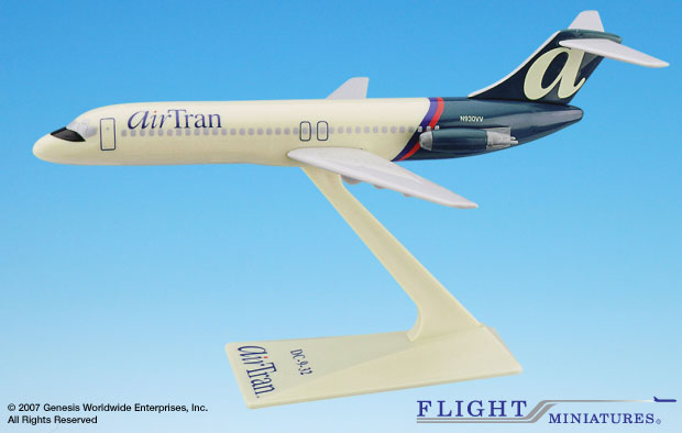 AirTran DC-9 (1:200), Flight Miniatures Snap-Fit Airliners, Item Number DC-00903H-012