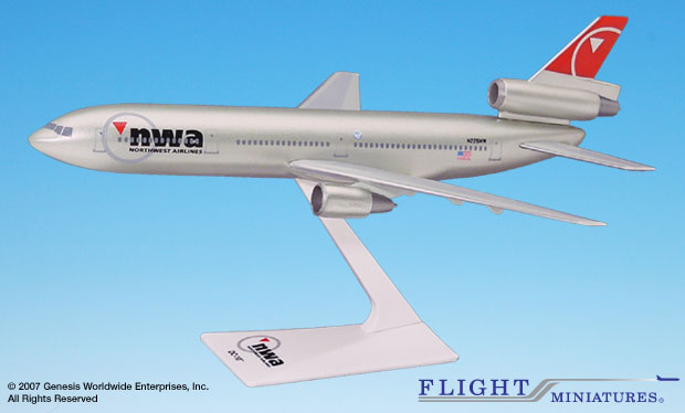 Northwest (03-09) DC-10 (1:250), Flight Miniatures Snap-Fit Airliners, Item Number DC-01000I-024