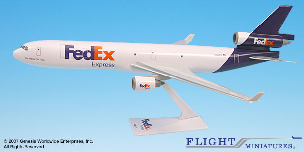 FedEx (05-Cur) MD-11 (1:200), Flight Miniatures Snap-Fit Airliners, Item Number MD-01100H-030