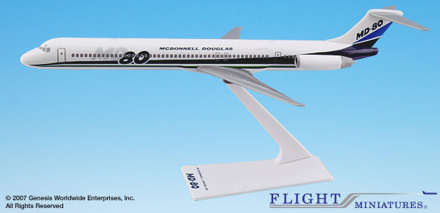 McDonnell Douglas MD-80 House Colors (1:200), Flight Miniatures Snap-Fit Airliners, Item Number MD-08000H-002