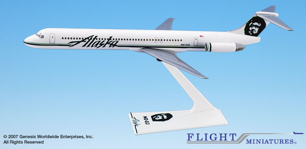 Alaska MD-83 (1:200), Flight Miniatures Snap-Fit Airliners, Item Number MD-08000H-016