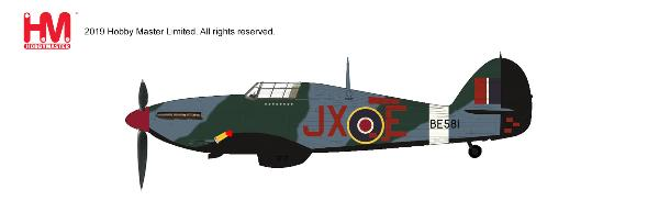 "Hawker Hurricane IIc Die Cast Model ""Night Reaper"", JX-E/BE581, No.1 Sqn., 1942 (1:48) - Preorder item, order now for future delivery, Hobby Master Diecast Airplanes, HA8699"