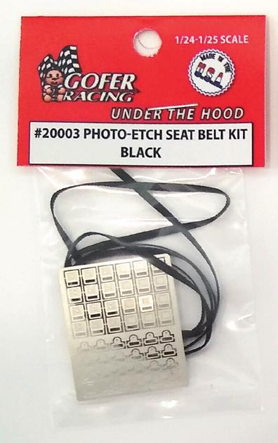 Photo Etch Black Seatbelt Kit