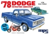 '78 Dodge D100 Custom P/U 1:25 by Model Products Corporation <p> Item Number: MCP901