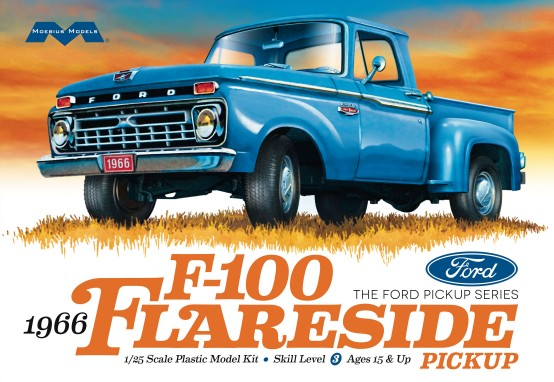 66 Ford F-100 Flareside 1:25 by Moebius <p> Item Number: MOE1232