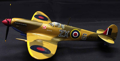 Spitfire MK IX RAF 145Sqn 1943 Desert Camo ZX-6 / EN315 (1:72), Witty Wings Diecast Fighters Item Number WTY72002-011