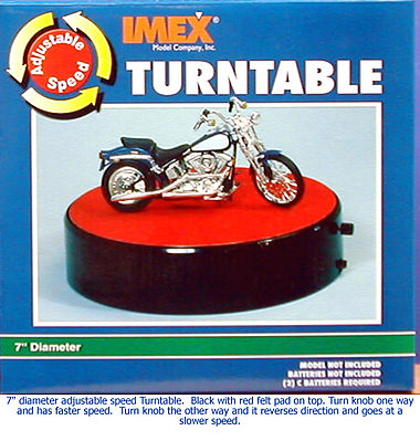 "Turntable Display, Motorized - 7"" Diameter, Battery Operated, IMEX Item Number IMX2551"
