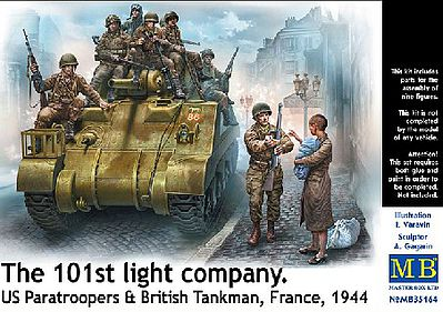 101th Sq US Paratroopers & British Tankmen France 1944 1:35, Master Box Item Number MBL35164