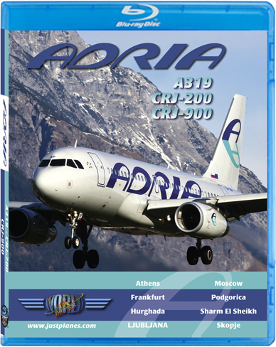 Adria A319, CRJ-200, CRJ-900 (BluRay DVD), Just Planes Aviation Blu-Ray Item Number JPADR1B