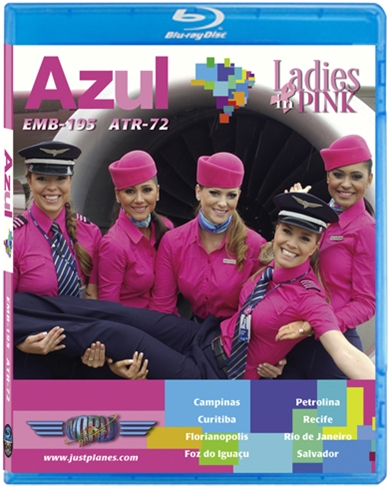 Azul Pink EMB-195 ATR-72 (BluRay DVD), Just Planes Aviation Blu-Ray Item Number JPAZU3B