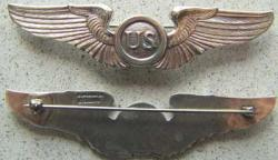 1920 US Pilot WIng Blackenton Sterling, Weingarten Gallery Item Number P-1596