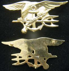 US Navy Seals Insignia Sterling / Gold Plate, Weingarten Gallery Item Number P-2144