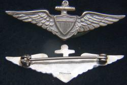 1920's to 1930's US Navy Pilot wing for garrison cap Sterling, Weingarten Gallery Item Number P-2191