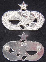 Air Force Occupation & Aeronautical Badges - Maintenance Senior Mess Dress Sterling, Weingarten Gallery Item Number P-2214