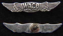 WACO Aircraft Co Logo Sterling Silver Tie Tack, Weingarten Gallery Item Number P-2267T