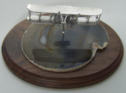 Wright Flyer 4 inch Scuplutre Sterling Silver, Weingarten Gallery Item Number P-WF4
