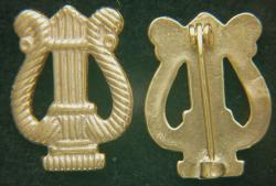 Spanish American War Army Band Collar insignia, Sterling Gold Plate by Weingarten Gallery Item Number: P-2316