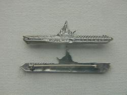WWII Midway Aircraft Carrier Sweetheart Pin Sterling Silver by Weingarten Gallery Item Number: P-2423