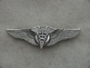 WWII Flight Surgeon Wings Luxenberg Sterling Silver 3 inch PB by Weingarten Gallery Item Number: P-2039FL