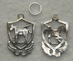 10th Special Forces 1950's beret badge Sterling Silver Charm, Weingarten Gallery Item Number P-2176C