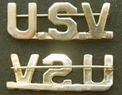 1898 Span Am US Army Volunteer Gilt on Sterling collar, Weingarten Gallery Item Number P-2022