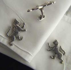 WWI/WWII Boxing Ocelot DI Sterling GP Cuff Links, Weingarten Gallery Item Number P-1870C