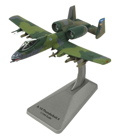 A-10 Thunderbolt 74th TFS, 23rd FW, USAF, England AFB, 1989 (1:100) New Tooling, Air Force 1 Diecast Item Number AF1-0144