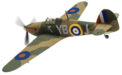"Hawker Hurricane Mk.1 N2359/YB-J, ""Winged Popeye"", RAF No.17 Sqn (1:72), Corgi Diecast Aviation Item Number AA27606"