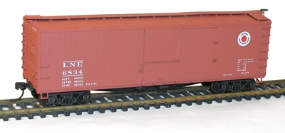 40 Ds Wood Boxcar Lehigh & New England 6834, Accurail Model Trains, Item Number ACU4643