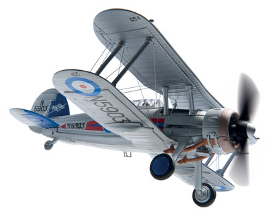 Gloster Gladiator MkII G-Glad Scale (1:72), Corgi Diecast Aviation Item Number AA36210
