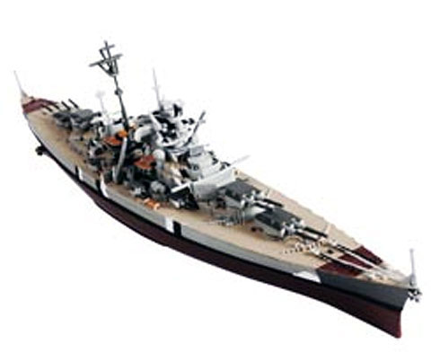 WWII German Bismarck Battleship Bismarck Norway 1941 (1:1000)