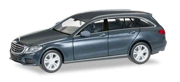 Mercedes-Benz C Class with Model T Elegance in Mettalic Grey (1:87), Herpa Item Number HE038394