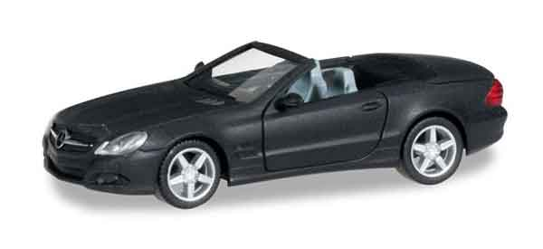 Mercedes-Benz SL Class in Matte Black (1:87), Herpa Item Number HE038461