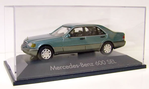 Mercedes-Benz 600 SEL Sedan in Green1/43, Herpa Item Number HE070010