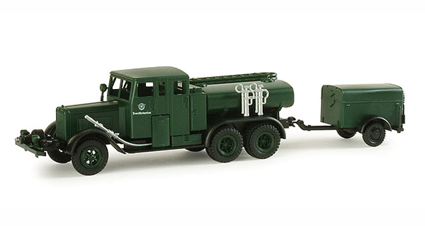 Henschel Tanker Truck with Trailer - (1:87), Herpa Item Number HE743136