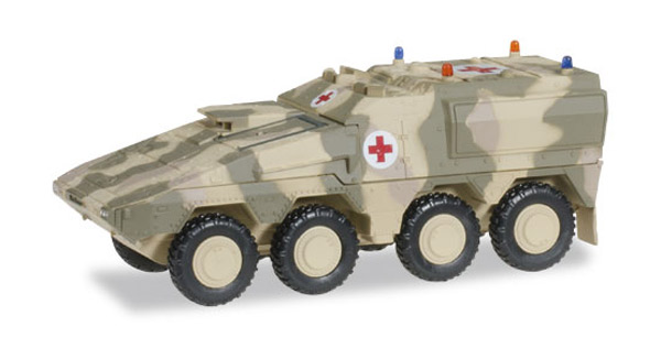 GTL Boxer Sanitation Vehicle in Camo - Decorated (1:87), Herpa Item Number HE745161