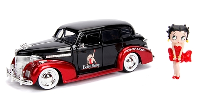 1939 Chevrolet Master Deluxe with Betty Boop Figure  1:24 by Jada Toys SKU JDA30695